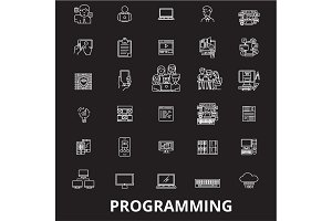 Programming editable line icons