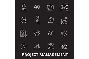 Project management editable line
