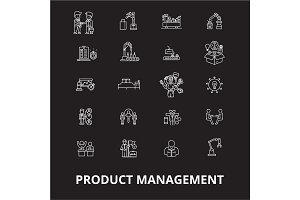 Project management icons editable