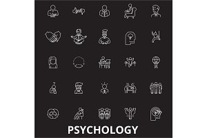 Psychology editable line icons