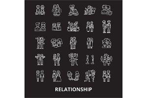 Relationship editable line icons