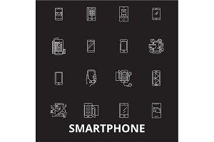 Smartphone editable line icons