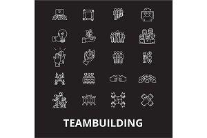 Teambuilding editable line icons