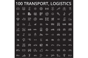 Transport, logistics editable line