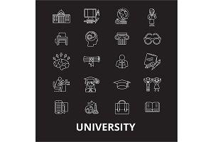 University editable line icons