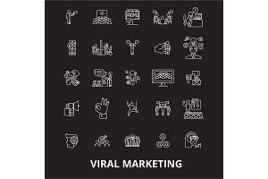 Viral editable line icons vector set