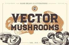 VECTOR MUSHROOMS BUNDLE 10.0