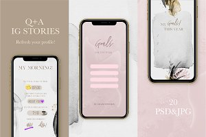 Q+A Instagram Stories Game Template