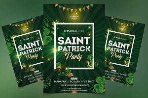 St Patricks Event PSD Flyer Template