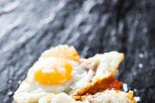 Sobrasada with fried egg