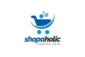 shopaholic - Trolley Logo