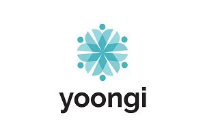 Yoongi Logo - Abstract Flower