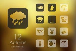 12 autumn icons