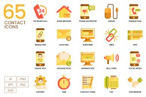 65 Contact Icons | Caramel