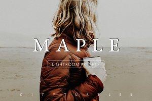MAPLE Golden Warm Lightroom Presets