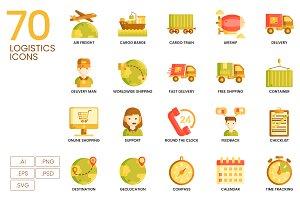 70 Logistics Icons | Caramel