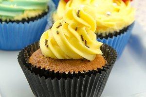 cupcakes decorados con crema