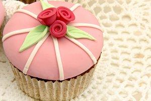 cupcakes flor primavera