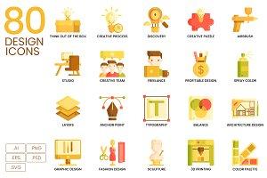 80 Creative Design Icons | Caramel