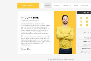 Resumify - One page resume Template