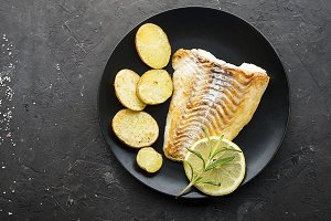 Cod fillet baked with fresh farmer's