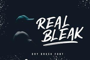 REAL BLEAK // Dry Brush Font
