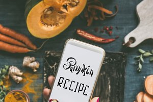 Using smartphone for cooking recipes