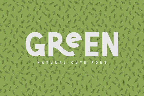 Sans Serif Fonts: Graphicfresh - Green | Natural Cute Font