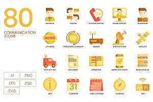 80 Communication Icons | Caramel