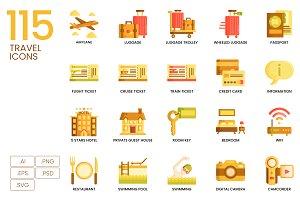 115 Travel Icons | Caramel