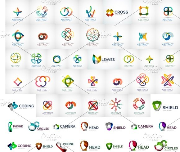 Huge line logos collection