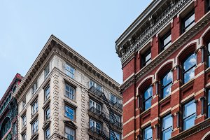Typical buildings in Soho in New