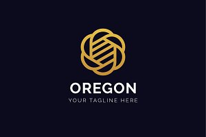 Oregon Logo - Abstract Flower