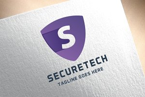 Letter S - Secure Tech Logo