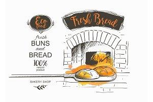 bread vector illustration