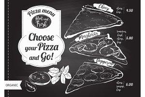 Vector slice pizza
