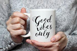 'For Her' Mug Mockup. PSD + JPEG