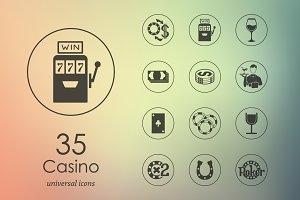 35 casino icons