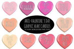 Anti-Valentine's Day Heart Candies