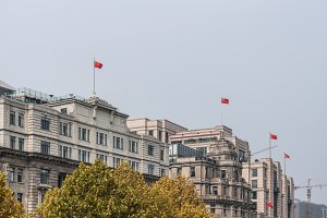 Historic buildings with chinese