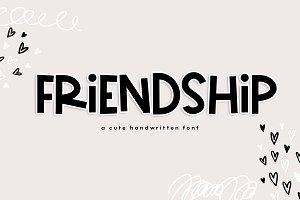 Friendship - A Cute Handwritten Font