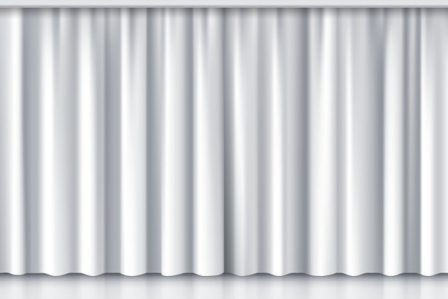 White stage curtain in Graphics