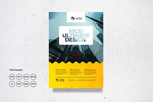 Poster Design with Building Vector