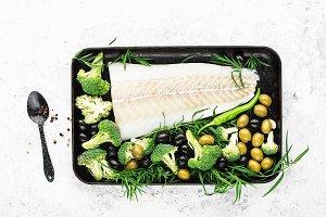 Healthy food: wild organic fresh sea