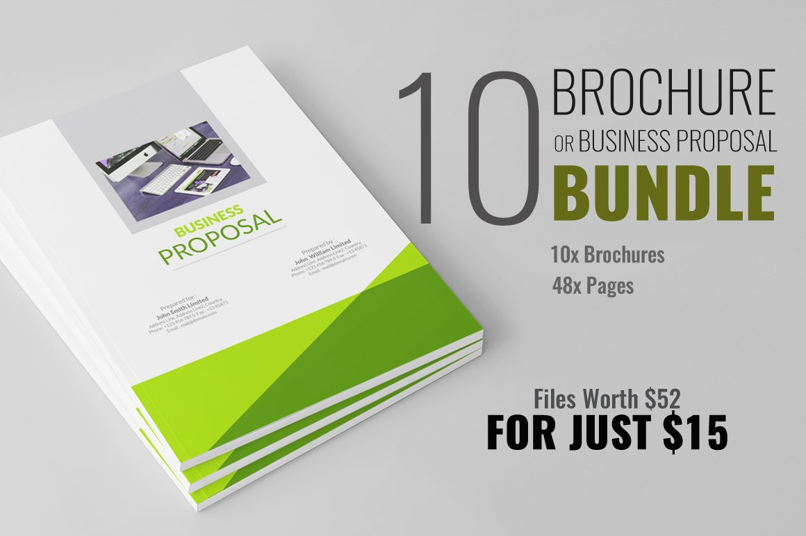 brochure or business proposal bundle brochure templates creative