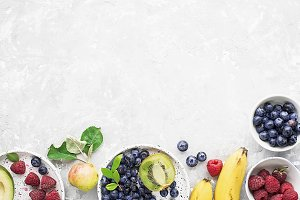 Ingredients of healthy breakfast