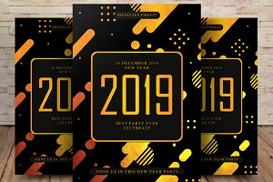 2019 Gold Flyer Template