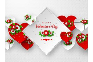 Valentines day holiday banner or