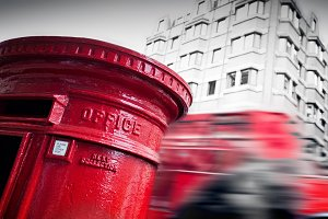 Red mail letter box, London, UK