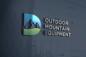 Outdoor Mountain | Letter D Logo